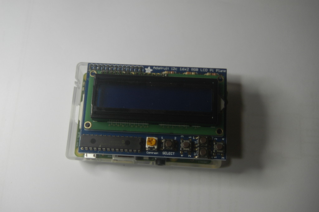 Raspberry Pi with Adafruit RGB LCD display