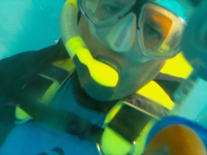 First selfie with the ScubaPi 2 underwater camera.